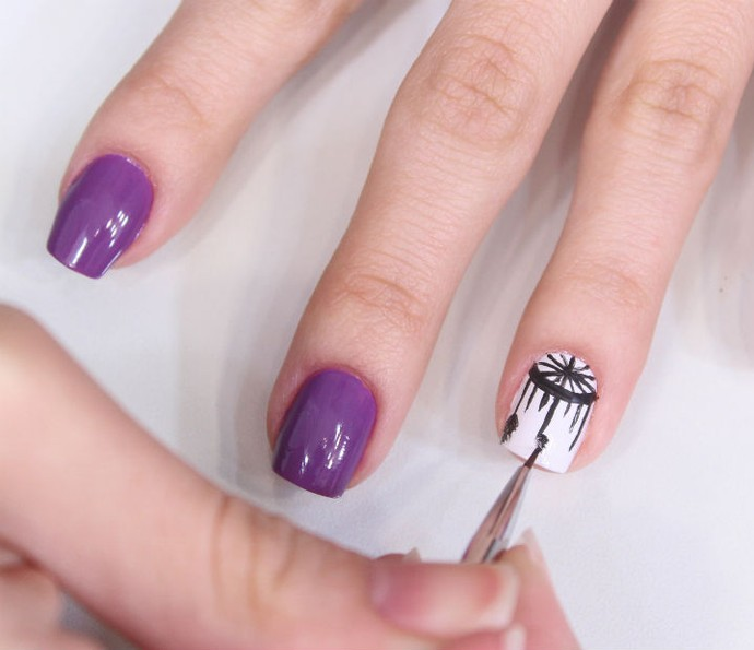 Muitas vezes Desenhos de unhas: Jana Taffarel ensina passo a passo para fazer  XT62