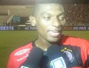negretti, herói do campinense (Foto: Cadu Vieira / GloboEsporte.com/pb)