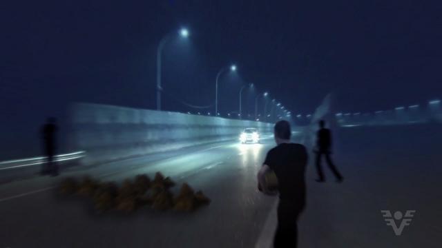 Simulação do assalto na Rodovia (Foto: Reprodução/TV Tribuna)