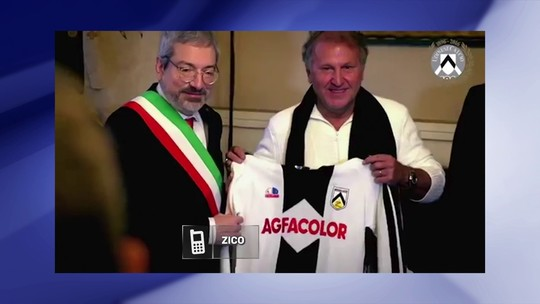 """Zico lembra ida para Udinese e diz  que Itália atraía """"melhores do mundo"""""""