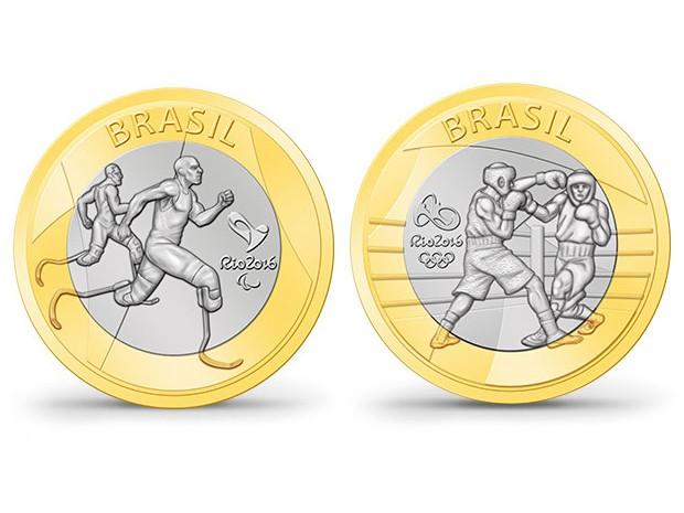 Moedas da olimpíada (Foto: Divulgação)