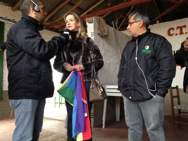 Juíza propôs que casamento coletivo fosse realizado em CTG no RS (Foto: Estêvão Pires/G1)