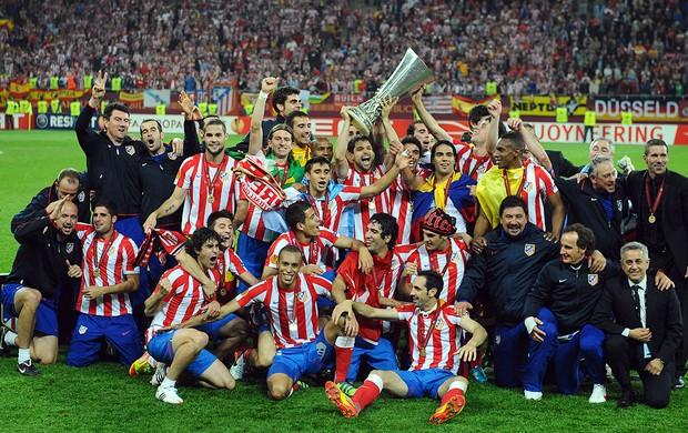 Taça, Atlético de Madrid campeão da Liga Europa (Foto: Agência AFP)