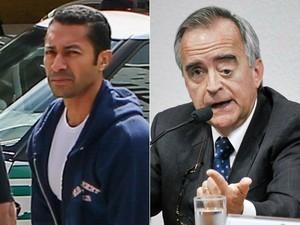 Fernando Baiano e Nestor Cerveró (Foto: Geraldo Bubniak/ AGB/ Estadão Conteúdo e Geraldo Magela/ Agência Senado)