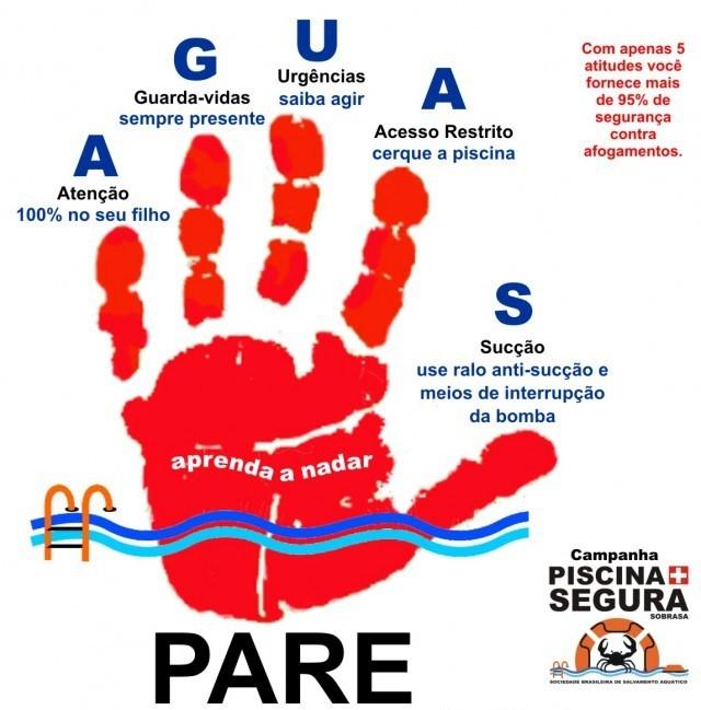 Campanha busca prevenir mortes por afogamento (Foto: Sobrasa/Divulgação)