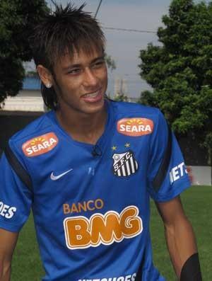 Neymar - matéria de domingo do Esporte Espetacular (Foto: Carla Destro / TV Globo)