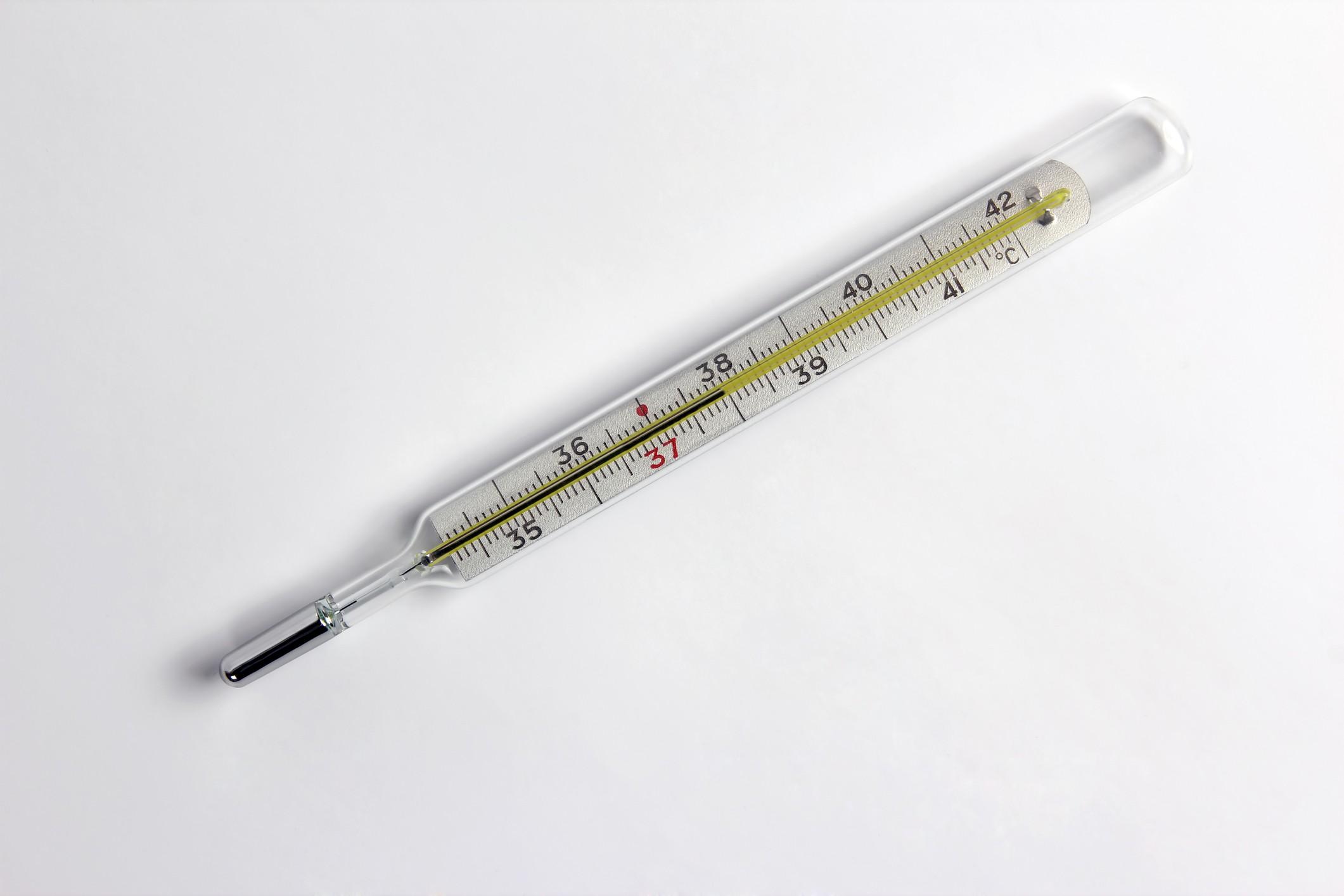 Termômetro com coluna de mercúrio (Foto: Thinkstock)