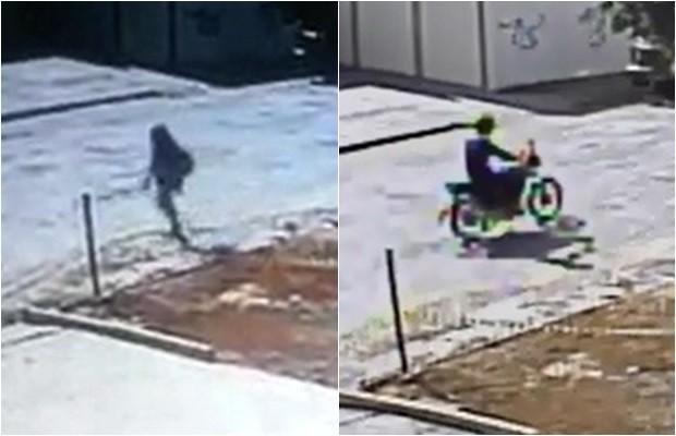 Imagens mostram menina antes de ser morta e suspeito fugindo, em Goiânia (Foto: Divulgação/Polícia Civil)