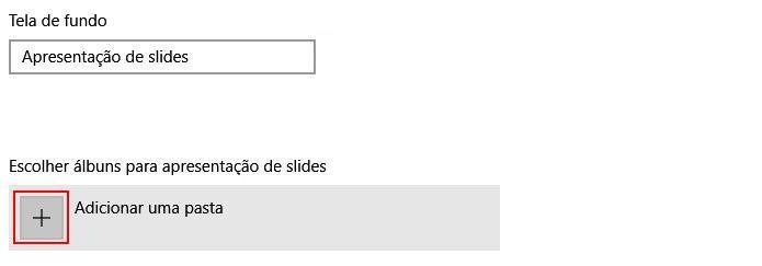 Adicionando uma pasta de imagens para a apresentação de Slides (Foto: Reprodução/Edivaldo Brito)
