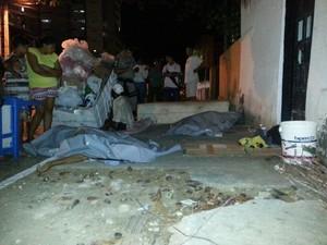 Vítimas morreram no local do crime  (Foto: Arquivo Pessoal/ Kléverton Amorim)