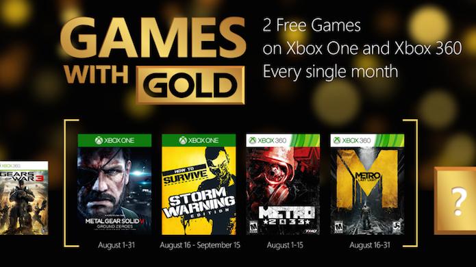 Xbox Live Gold: conheça os jogos gratuitos de agosto (Foto: Divulgação)
