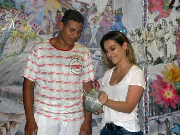 Cléo Pires participou do lançamento do projeto Carnaval Experience da Grande Rio (Foto: Alba Valéria Mendonça/G1)