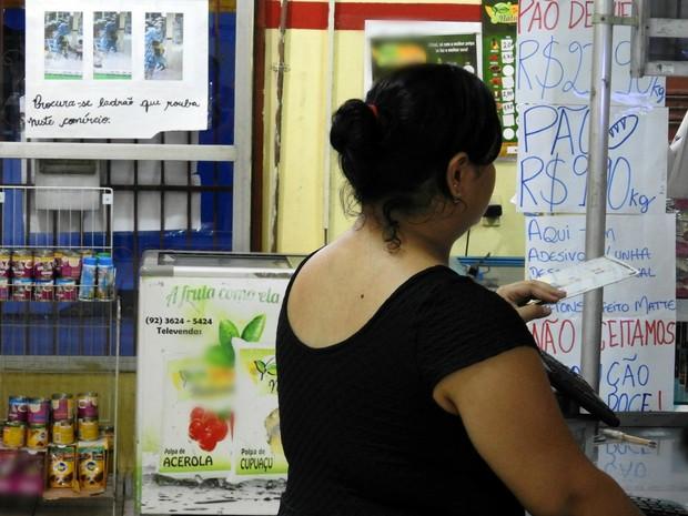Funcionários afirmam que medo de assaltos é constante (Foto: Rickardo Marques/G1 AM)