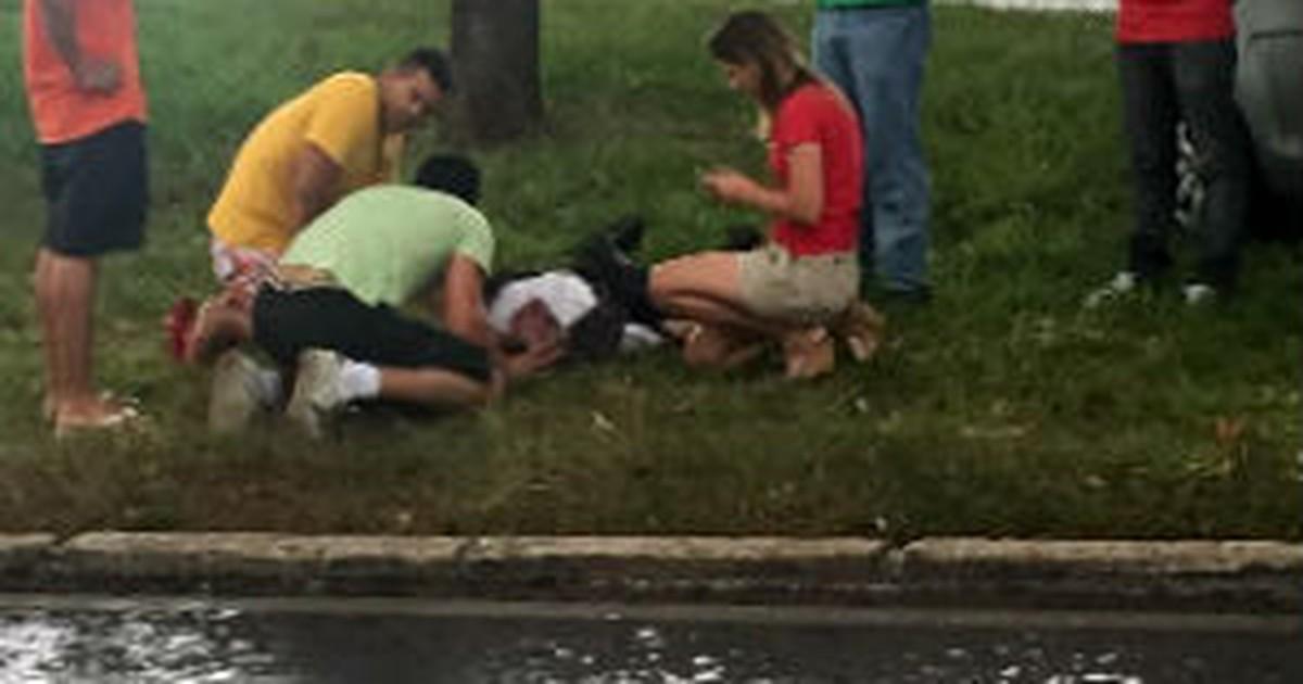 Homem atingido por raio no DF sofre parada cardiorrespiratória e ... - Globo.com