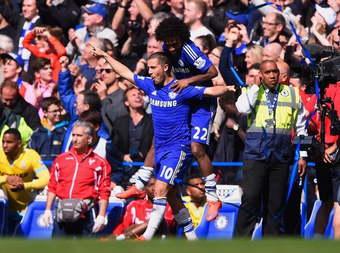 Hazard Willian título Chelsea (Foto: Getty Images)