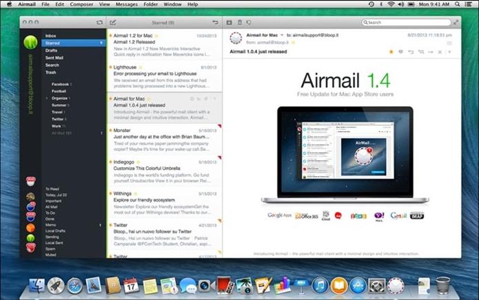 AirMail oferece melhor interface e mais recursos que app oficial da Apple (Foto: Divulgação)