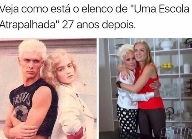 Angélica entra na onda dos memes que comparam visual de Ana Maria Braga ao de Supla (Foto: Reprodução/Instagram)