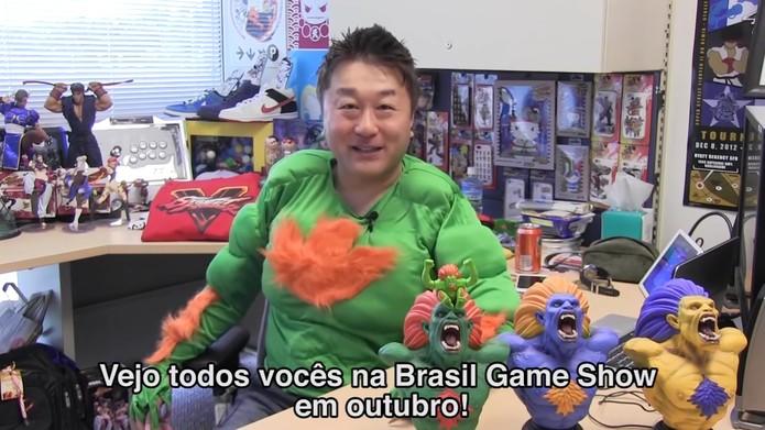 O produtor Yoshinori Ono estará na BGS para apresentar novidades sobre Street Fighter V (Foto:Reprodução/YouTube)