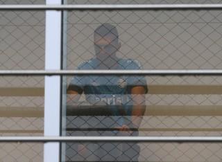Rhodolfo na academia do Grêmio (Foto: Eduardo Moura/GloboEsporte.com)