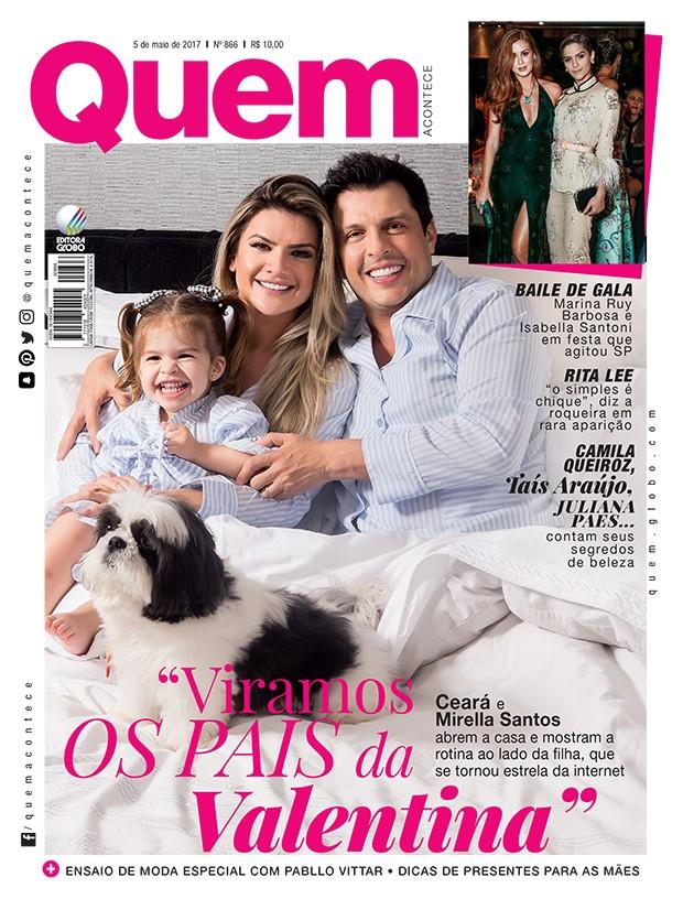 Mirella Santos, Ceará e Valentina na capa da QUEM (Foto: Flare Fotografia/Ed. Globo)