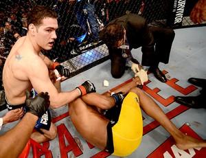 Anderson Silva lesão UFC Las Vegas Chris Weidman (Foto: Getty Images)