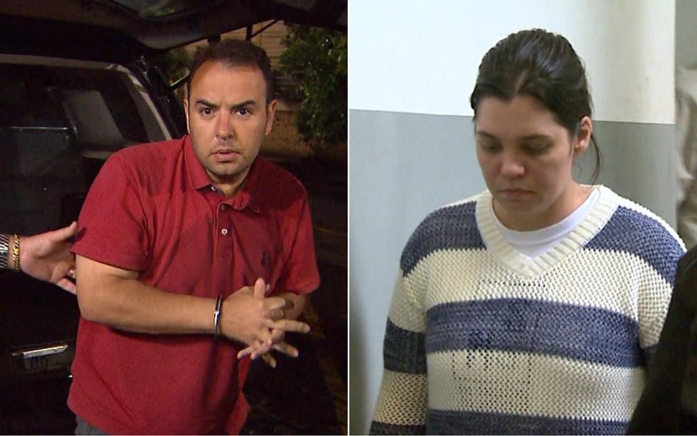 Michel Pierri Cintra e Viviane Boffi Emílio foram condenados a 37 anos e 8 meses de prisão (Foto: Reprodução/EPTV)
