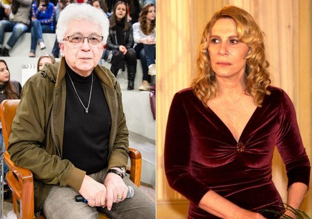 Aguinaldo Silva e sua criação, Nazaré Tedesco (Renata Sorrah) (Foto: TV Globo)