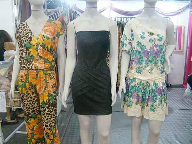 Artigos femininos, para todas as idades, estão entre os produtos oferecidos na feira de moda (Foto: Divulgação)