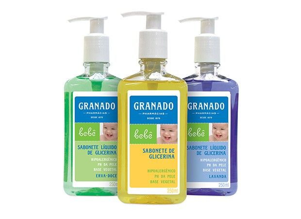 Sabonete Líquido Granado: para o banho desde os primeiros dias de vida (Foto: Divulgação)