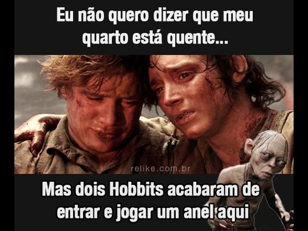 Meme sobre calor cita Senhor dos Anéis (Foto: Reprodução/Relike.com.br)