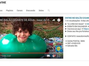 Isaac do Vine (Foto: Reprodução/Youtube)