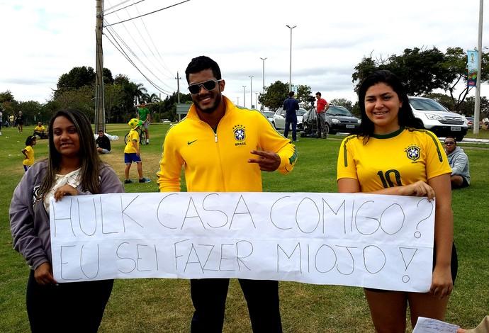 Sósia hulk Brasília pedido de casamento (Foto: Márcio Iannacca )