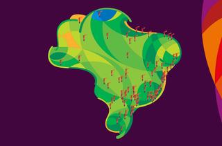 Mapa da Tocha Olímpica (Foto: Reprodução)
