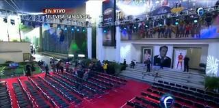 Local onde vai acontecer o velório de Roberto Bolaños para família e amigos na sede da Televisa (Foto: Reprodução/Televisa)