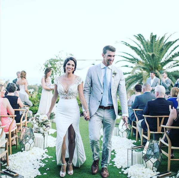 O casamento de Michael Phelps com Nicole Johnson (Foto: Instagram)