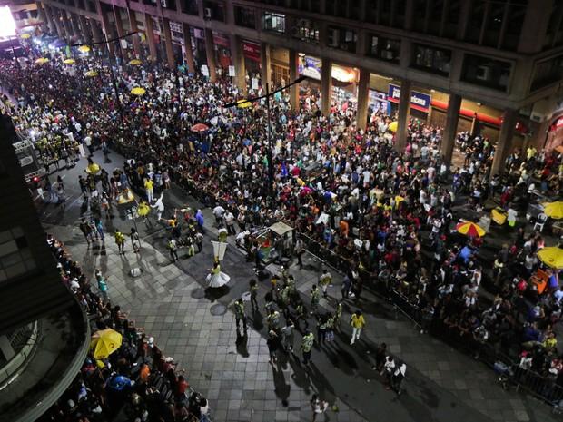 Descida da Borges reuniu cerca de 3 mil foliões em Porto Alegre (Foto: Joel Vargas, divulgação/PMPA )