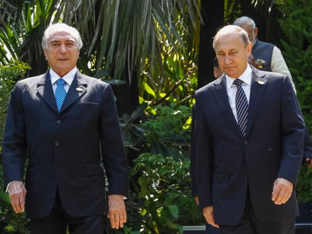 Temer pede a Putin que reconsidere prisão de pesquisador na Rússia (Foto: Beto Barata/PR)