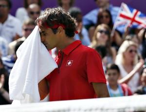 Roger Federer tênis Londres 2012 Olimpíadas semi (Foto: Reuters)