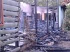 Incêndio destrói casa no bairro Aldeia (Bena Santarém/ G1 Santarém)