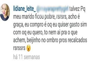 Em uma postagem nas redes sociais prefeita manda 'beijinho no ombro' (Foto: Divulgação / TV Mirante)