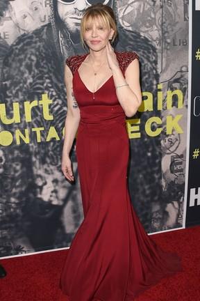 Courtney Love em première de documentário em Los Angeles, nos Estados Unidos (Foto: Jason Merritt/ Getty Images/ AFP)