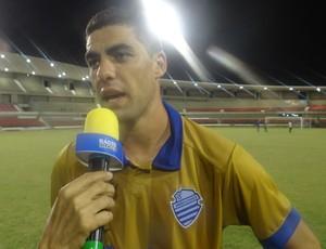 Xandão, zagueiro do CSA (Foto: Augusto Oliveira / GloboEsporte.com)