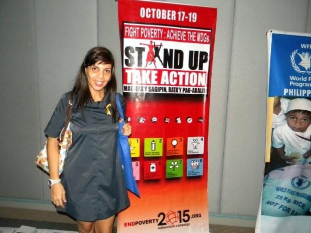 Fabiana trabalhou em importantes causas sociais pelo mundo (Foto: Fabiana Mesquita / Arquivo Pessoal)