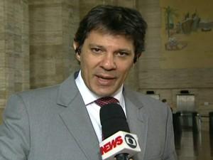 Fernando Haddad convida manifestantes para discutir tarifa em SP (Foto: Reprodução Globo News)