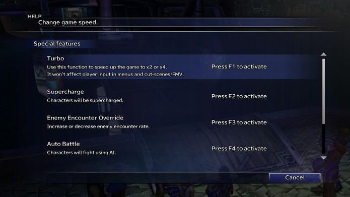 Cheats oficiais permitem acelerar jogo e recuperar seus personagens (Fonte: Reprodução/Cássio Barbosa)