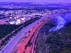Incêndio atinge área de propriedade do Exército em Brasília