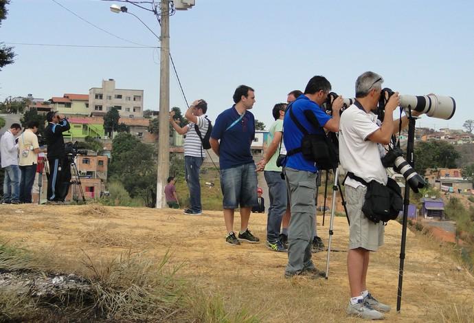treino argentina jornalistas (Foto: Fernando Martins)