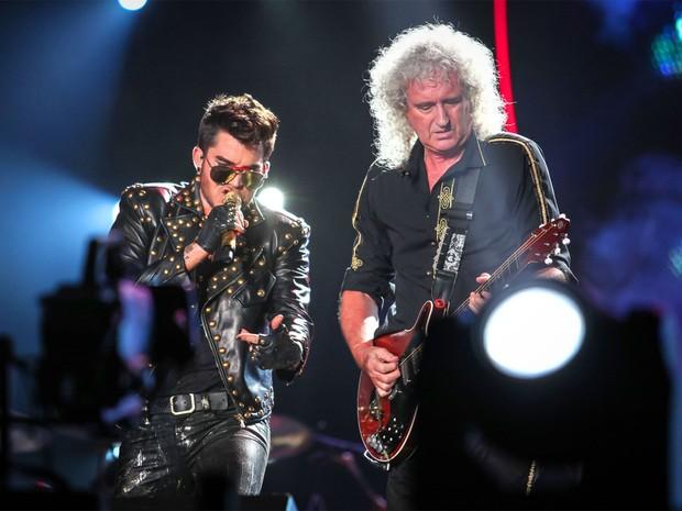 Adam Lambert e Queen no Rock in Rio (Foto: Fabio Tito/G1)