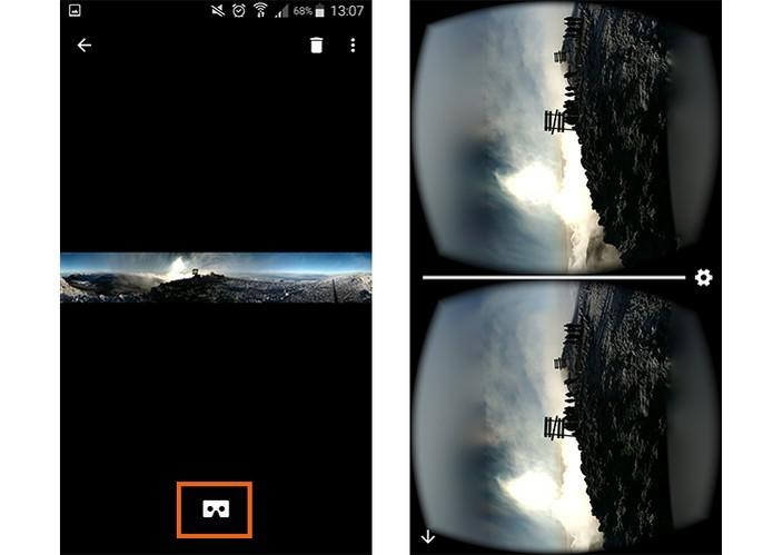 Visualize a foto em 360 graus no app e se preferir exiba em realidade virtual (Foto: Reprodução/Barbara Mannara)