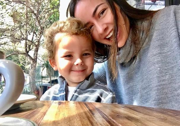Antonio, filho de cinco anos, da Lu Tranchesi (Foto: Reprodução Instagram)